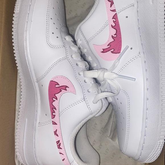 custom air force 1 pink